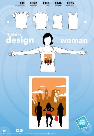 T-shirt design template Stock Vector - 17450013