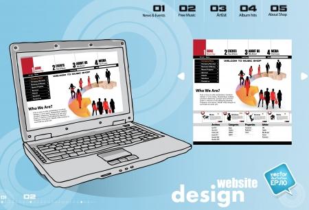 Website template Stock Vector - 17450031