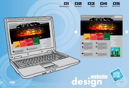 Website Template Stock Vector - 17450032