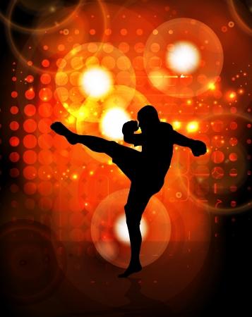 kwon: Karate warrior Stock Photo