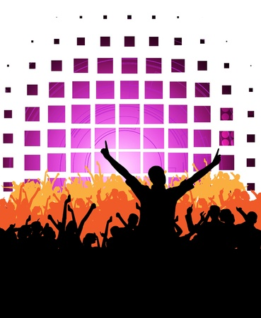 Crowd cheering at the music concert Stock Photo - 17476457