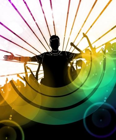 Music dance background. Vector Vector