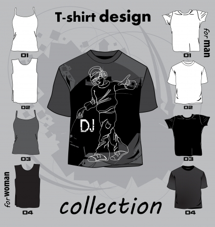 Abstract t-shirt design vector illustration Vector