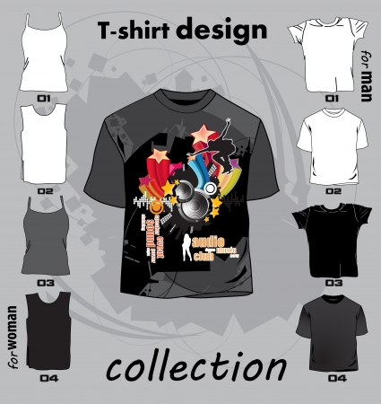 Abstract t-shirt design vector illustration Stock Vector - 17478254