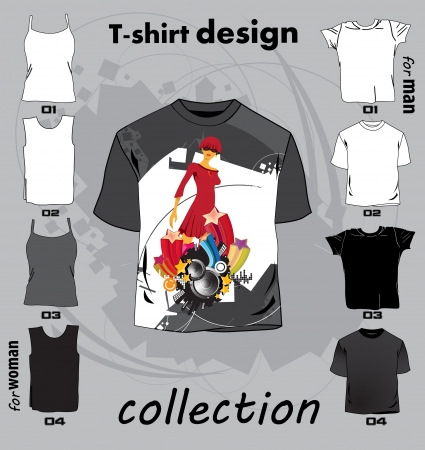 Résumé t-shirt illustration vectorielle de conception