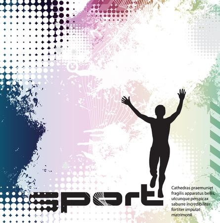 runner silhouette: Sport vector illustration