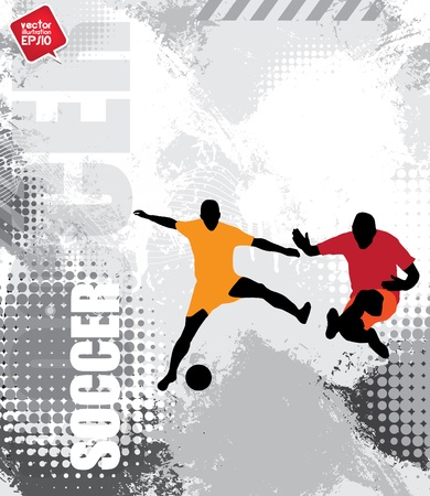 Soccer players Stock Vector - 17529885