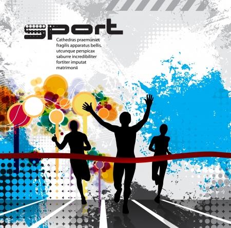 running race: Sport illustration