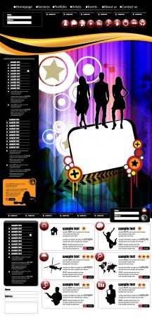 Website layout Stock Vector - 17529986