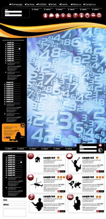 Website layout Stock Vector - 17530002
