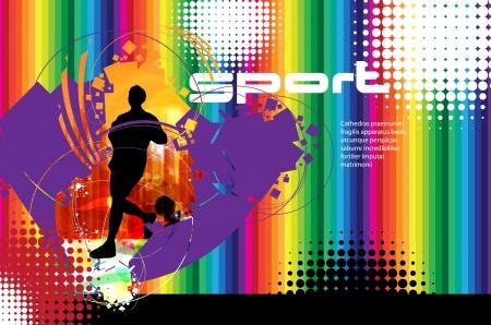 Runner sport illustration Stock Vector - 17529971