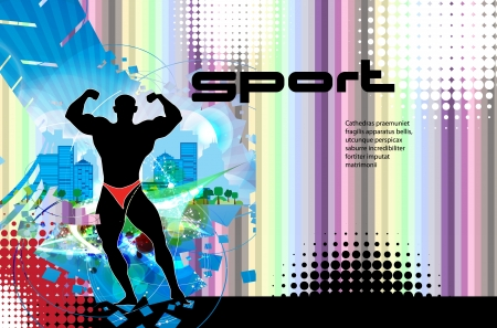 illustration of muscle man Stock Vector - 17529969