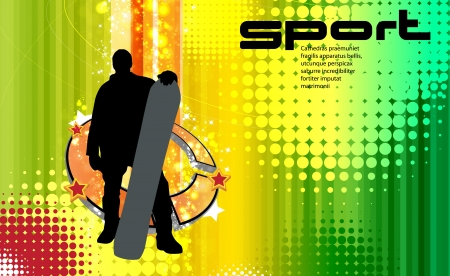 Snowboarding Stock Vector - 17529973