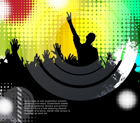 Dancing young people. Stock Vector - 17529976