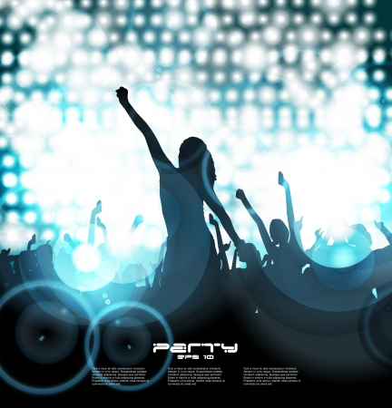 Party People Background - Dancing Young People Stock Vector - 17530020