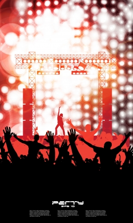 Party People Background - Dancing Young People Stock Vector - 17530046