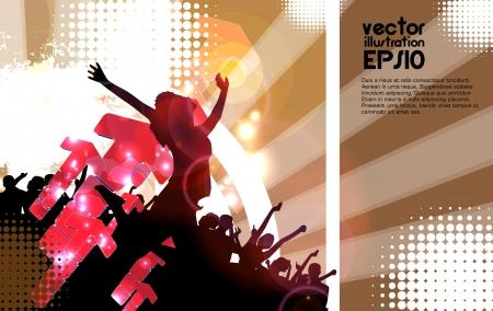 Clubbing. Stock Vector - 17530040