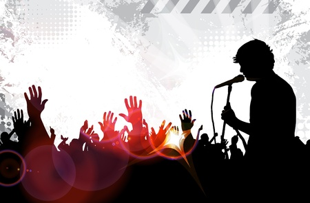 Music event background. Vector illustration Vector