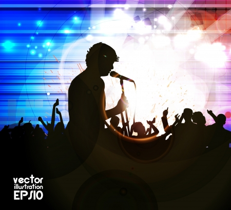 Music event background. Vector illustration Stock Vector - 17594330