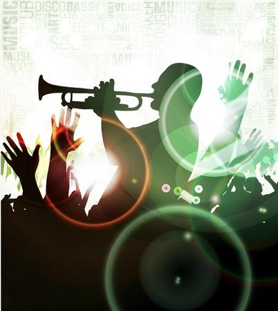 clubing: Crowd at concert Illustration