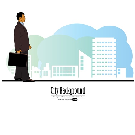 Businessman walking Stock Vector - 17604843