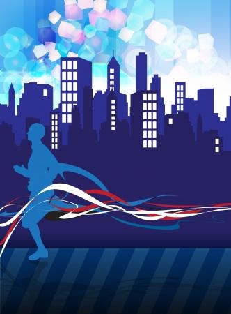Runner illustration illustration