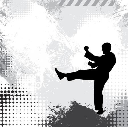 judo: Karate warrior Stock Photo