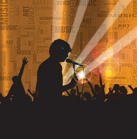 Dancing people. Music event illustration illustration