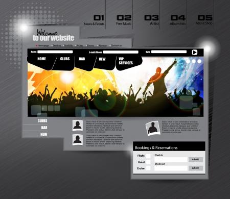Website Template Stock Vector - 17859100