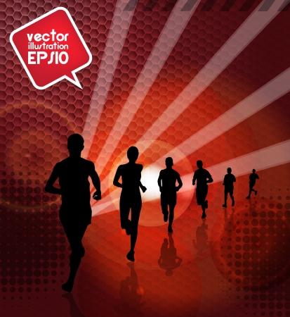 Marathon runners Stock Vector - 17862154