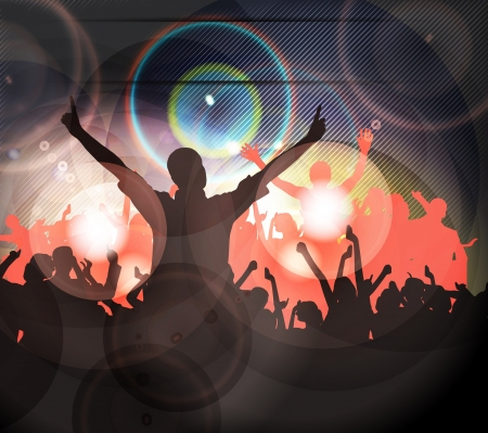 dancing club: Music party illustration  Stock Photo