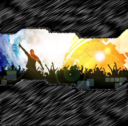 Music event illustration illustration