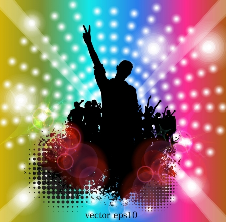 Music party.  Stock Vector - 18170521