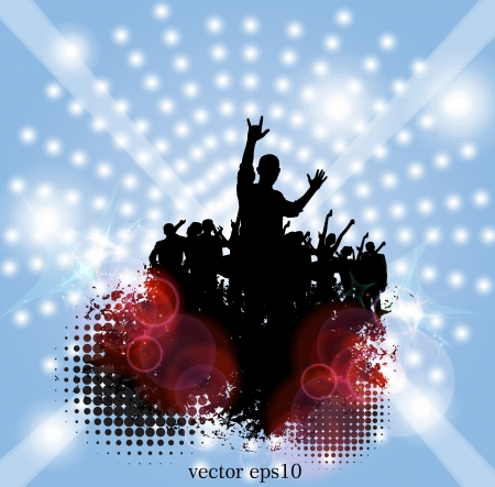 Music party.  Vector