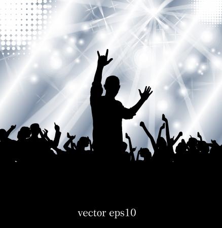 Concert illustration  Vector illustration Stock Vector - 18186115