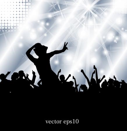 nightclub crowd: Concert illustration  Vector illustration Illustration