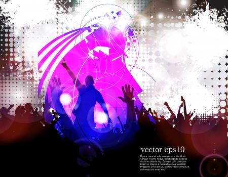 Music event illustration. Vector  Stock Vector - 18238953