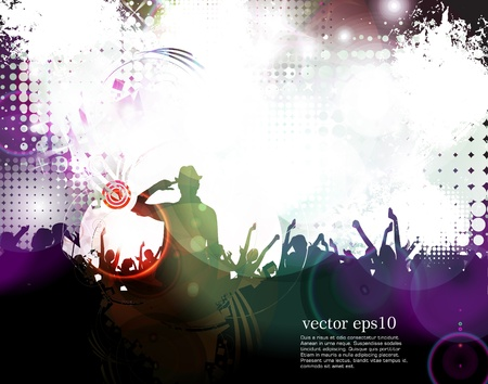 Music event illustration. Vector Stock Vector - 18238957