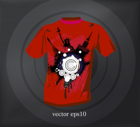 raglan: T-shirt design. Vector