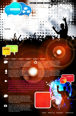 Music Website Template - Design Stock Vector - 18306592