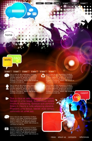 Music Website Template - Vector Design Stock Vector - 18306596