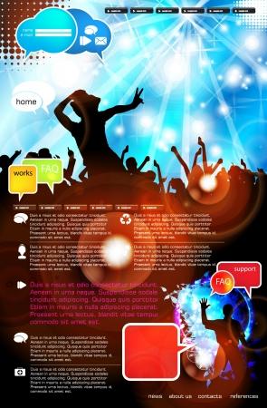 Music Website Template - Design Stock Vector - 18306588