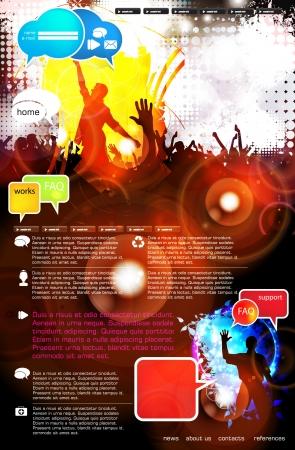 Music Website Template - Design Stock Vector - 18306601