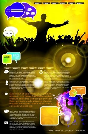 Music Website Template - Vector Design Stock Vector - 18390776