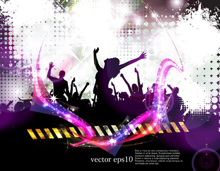 party dj: Music event background