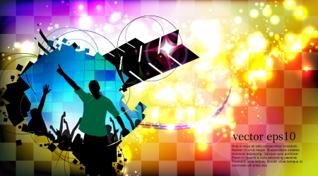 Music event background Stock Vector - 18428400
