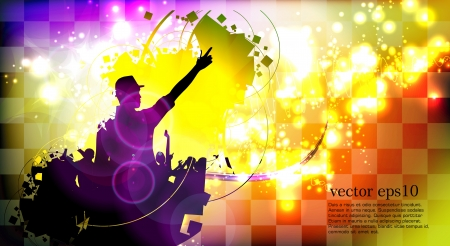 Music event background Stock Vector - 18428385