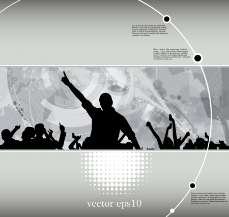 Concert poster. Vector illustration Vector