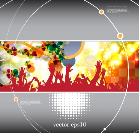 Dancing people. Background for poster or web banner Vector