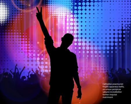 Dancing people. Vector  Stock Vector - 18599285